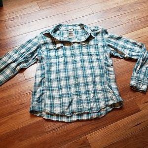 The North Face~Plaid shirt.